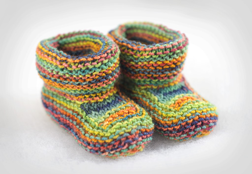 Knitting Patterns For Seamless Baby Booties : Baby Booties Thimbleanna