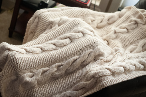 Cable Knit Throw Thimbleanna