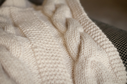 Cable Knit Throw | Thimbleanna