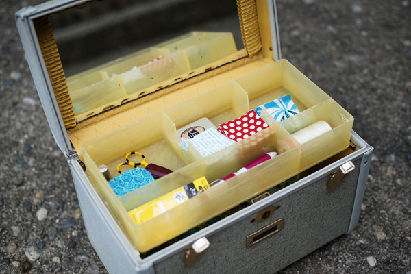 Thimbleanna: Train Case Sewing Box