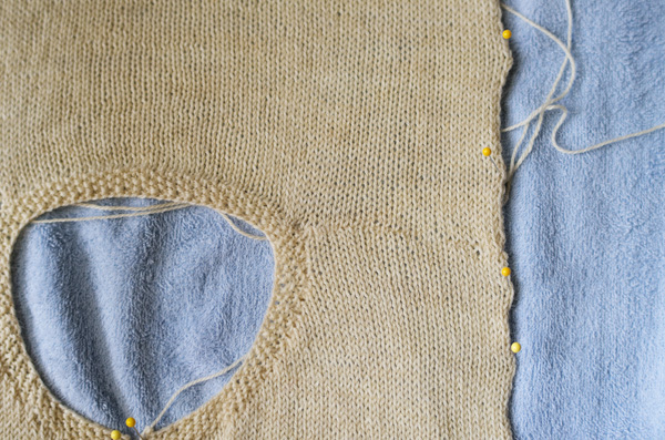 Thimbleanna: Blocking Knits