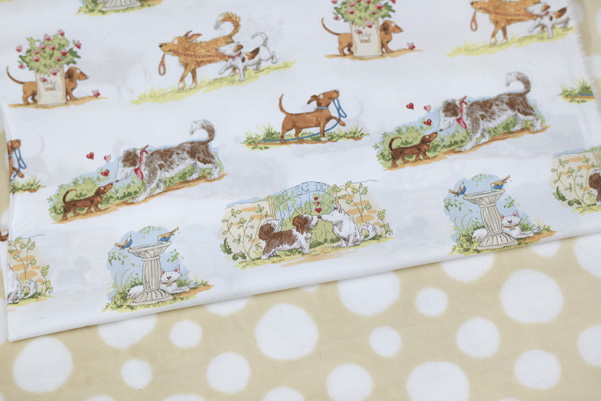 Thimbleanna: Puppy Love Fabric